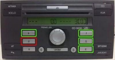 Как узнать код магнитолы форд 6000 cd?